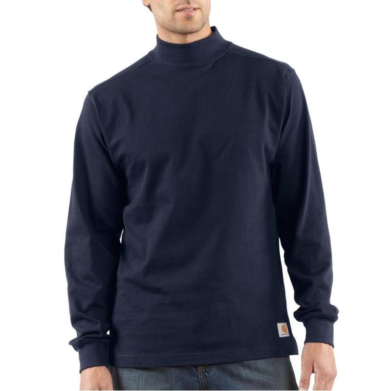 Carhartt men 39 s mock turtlenecks k203 for Mens mock turtleneck shirts sale