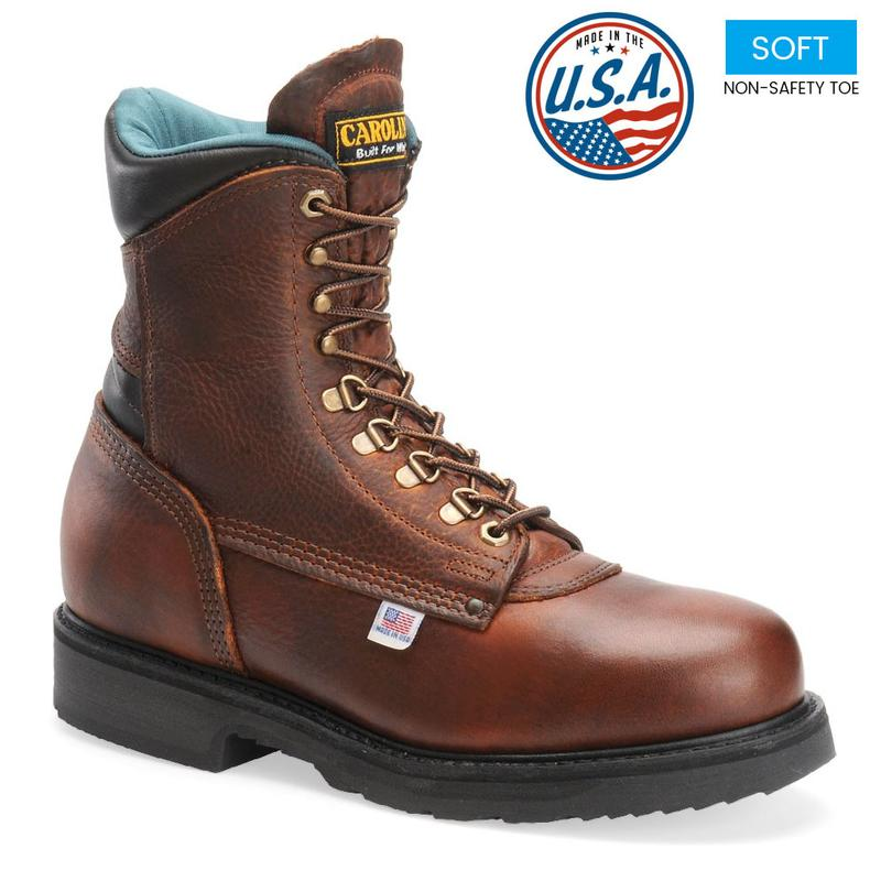 Carolina Men S 809 8 In Plain Toe Work Boots Made In