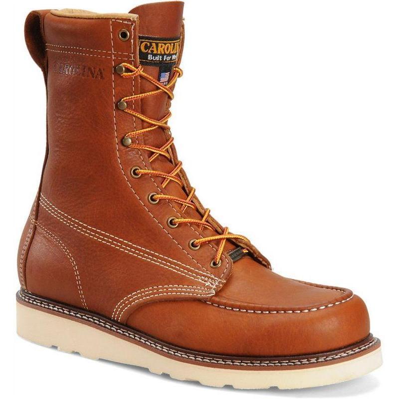 Carolina 8 In Domestic Wedge Moc Toe Boots Made In Usa
