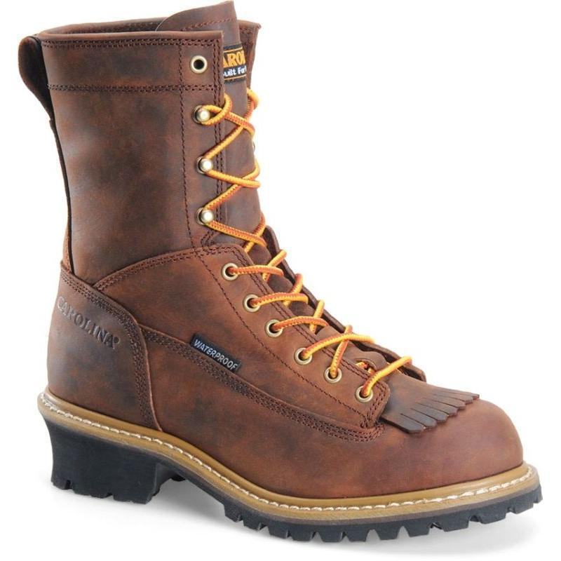 Carolina Men S 8 In Waterproof Soft Toe Logger Boots Ca8824
