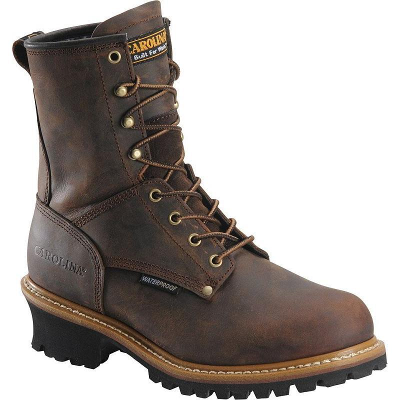 Carolina Men S 8 In Waterproof Steel Toe Logger Boots Ca9821