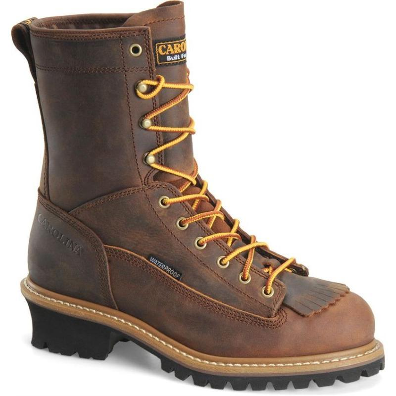 Carolina Men S 8 In Waterproof Steel Toe Kiltie Logger Ca9824