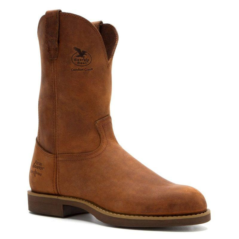 Georgia Mens Carbotec Farm And Ranch Pull On Boots G5814