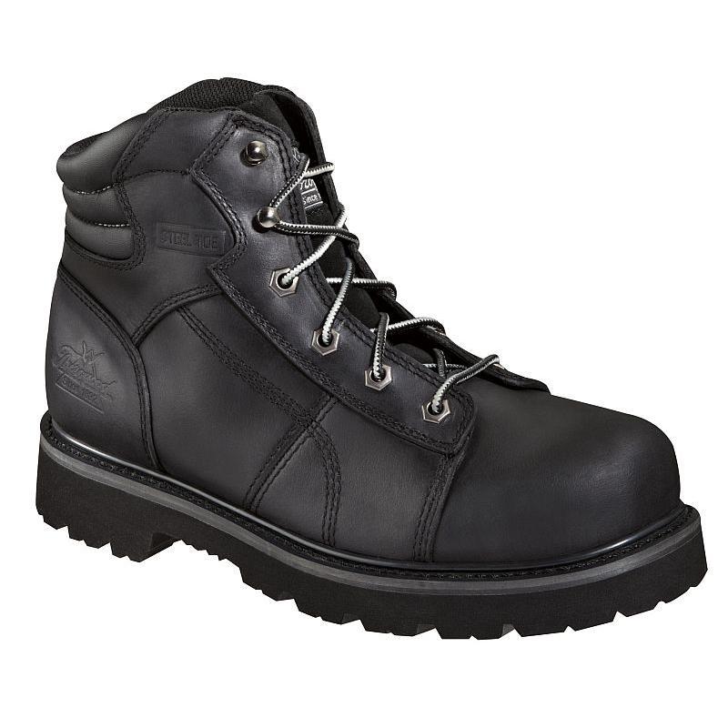 Thorogood Men S 6 In Black Lace To Toe Semi Oblique Steel